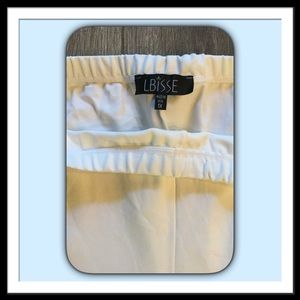 Lbisse Pants - Lbisse White Leggings, Size 1X
